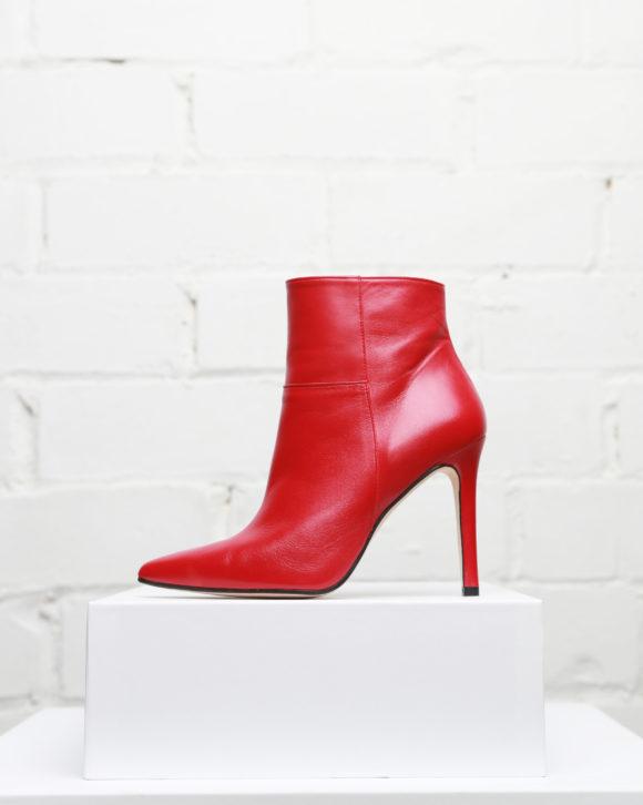 Botines mujer con tacón alto en piel. Colección de zapatos online de Maria Albertin. Diseños exclusivos fabricados a mano en España