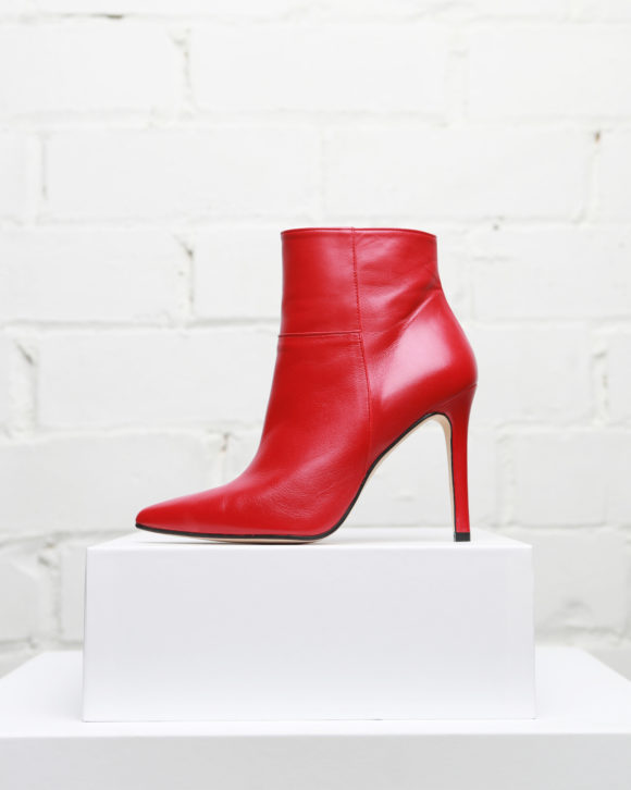Botines mujer modelo Mila colección Maria Albertin. Botín de piel rojo made in Spain